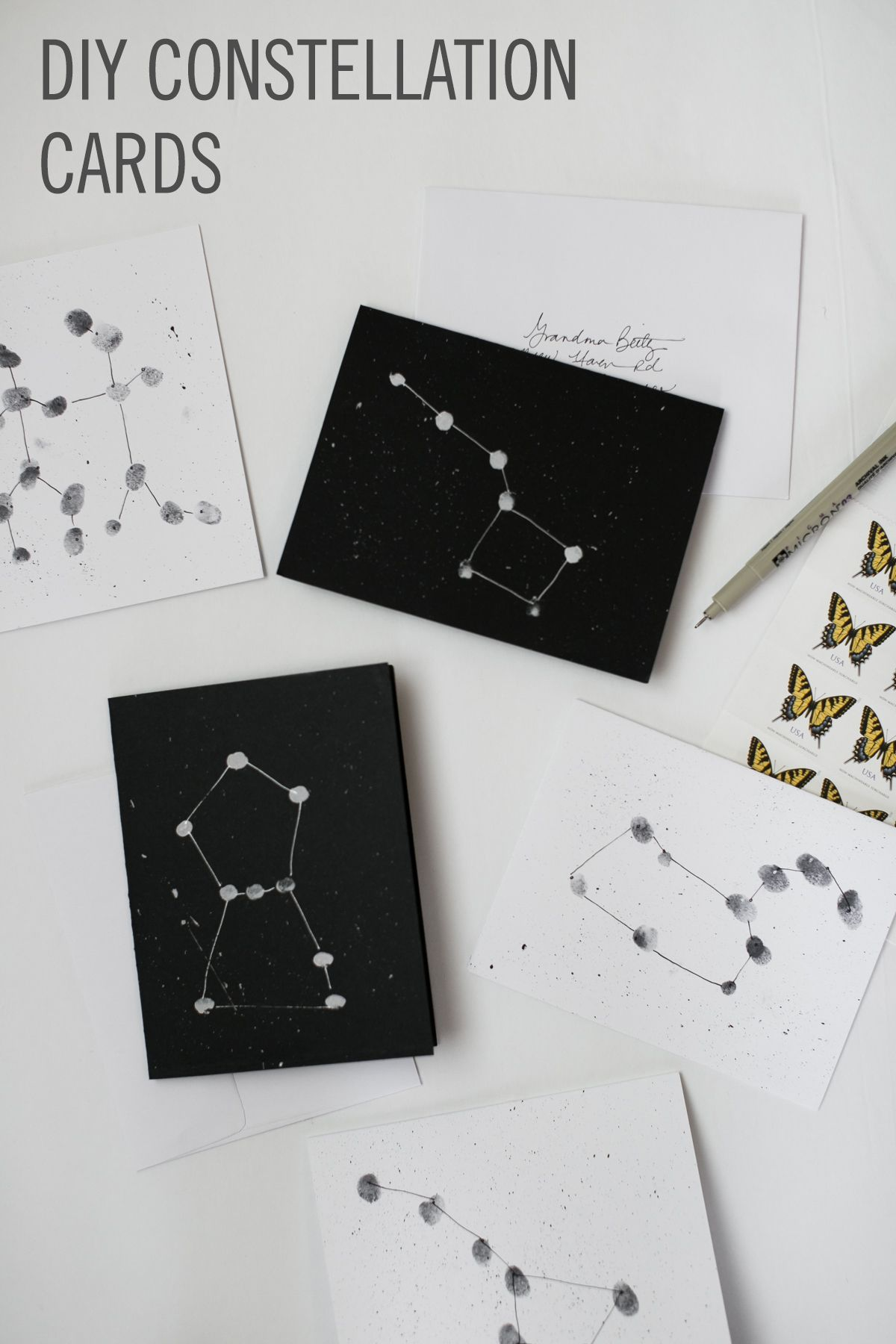 Constellation Cards The Prettiest Toddler Diy With