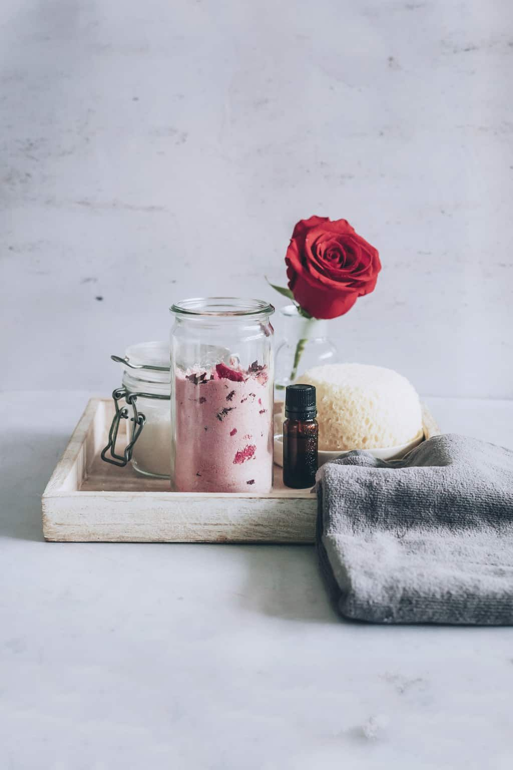 Homemade milk bath with roses recipe with images