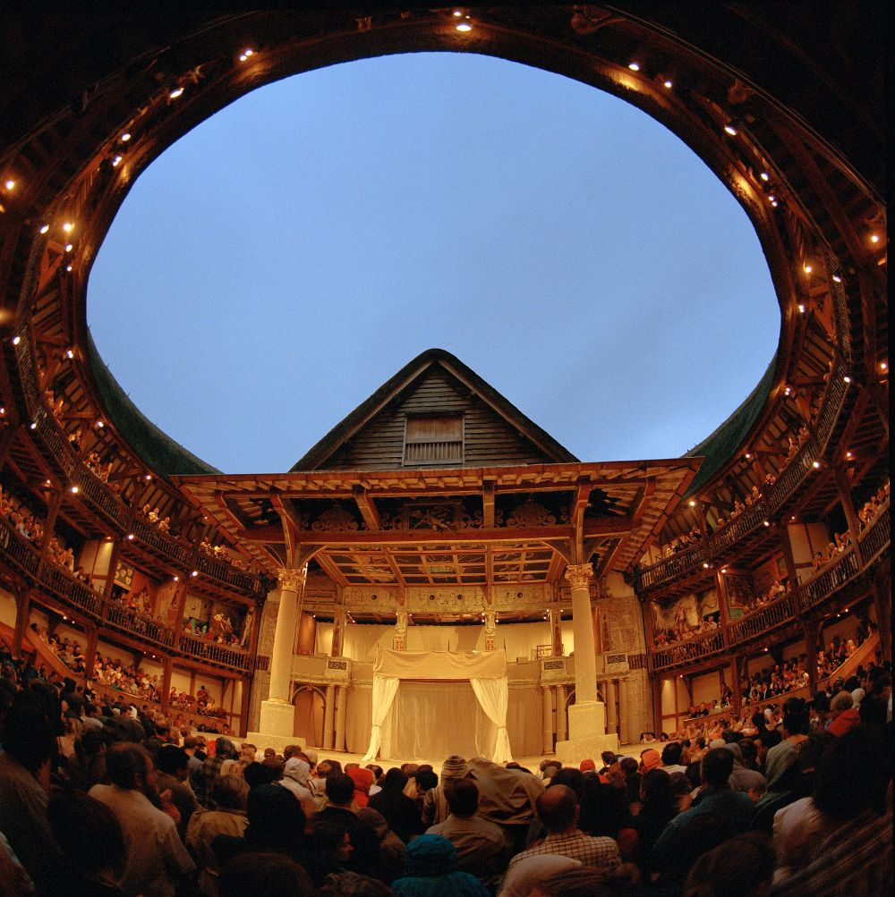 a description of the globe theatre as a london theatre Book your ticket to see great theatre at shakespeare's globe in london, a  reconstruction of the original open-air playhouse designed in 1599.