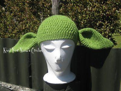 Crochet-Yoda-Hat   Crochet Photo Props   Pinterest   Gorros, Gorro ...