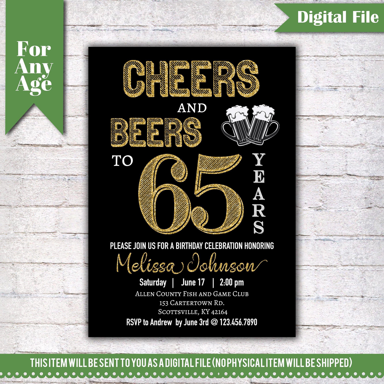Einladung 65 Geburtstag