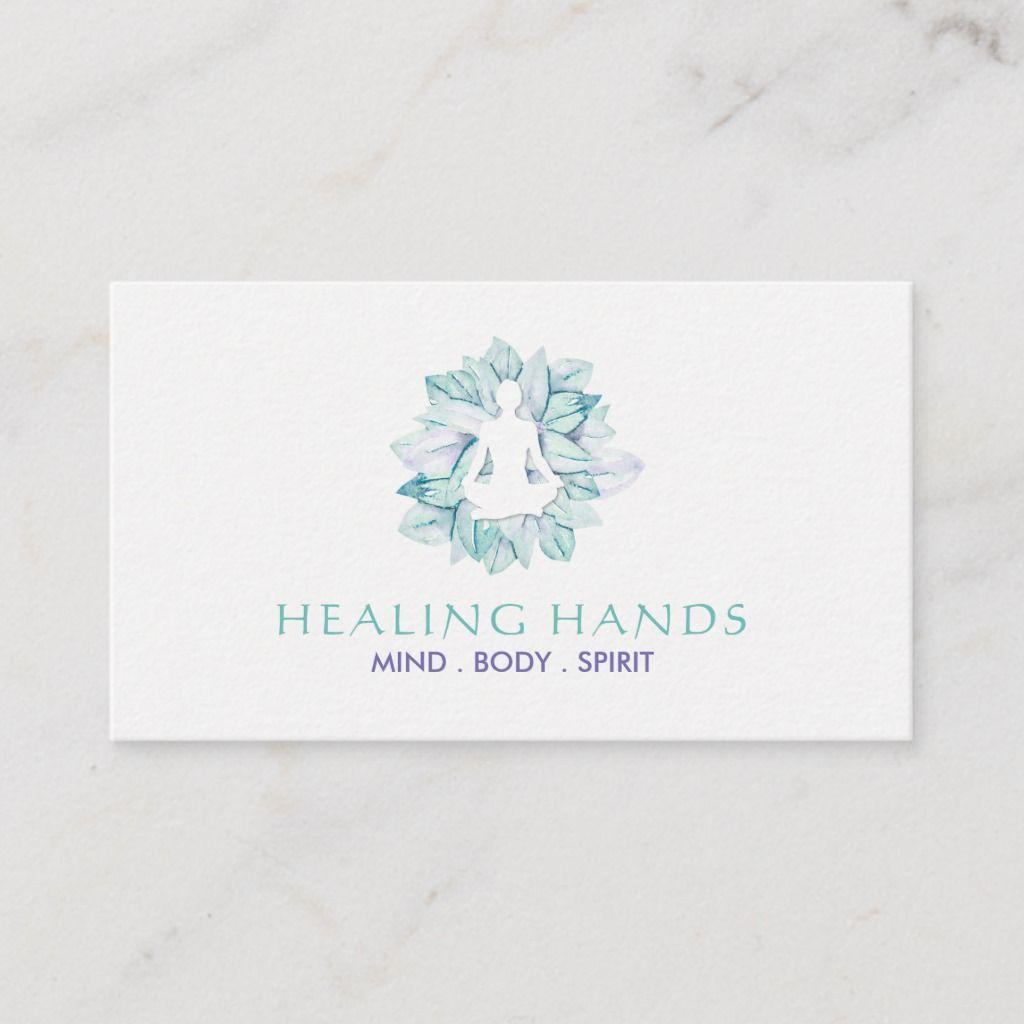 Yoga And Reiki Business Cards Zazzle Com Reiki Business Spiritual Business Card Business Cards Creative