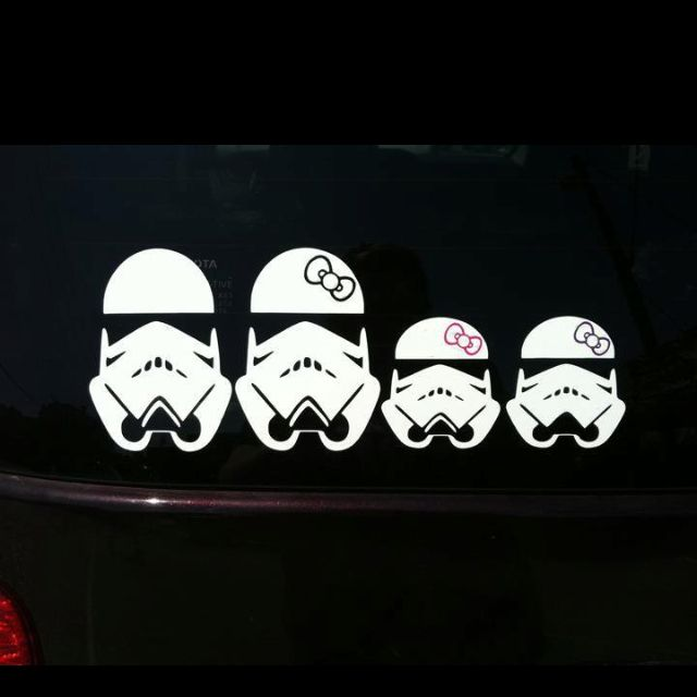 Storm Trooper Family Car Decal Funny Pinterest Family Car - Family car sticker decalsbest silhouette for the car images on pinterest family car