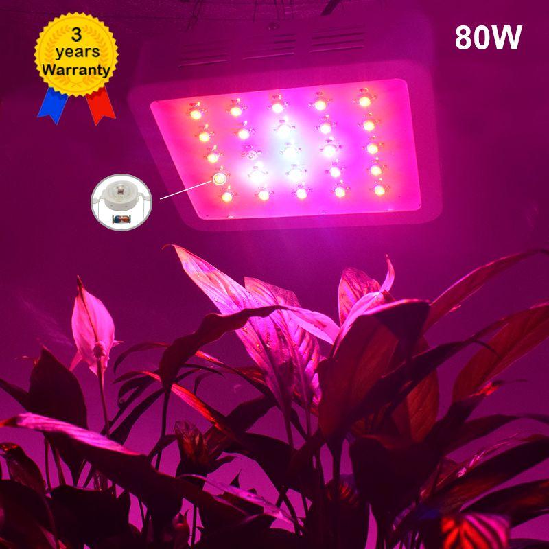 80 W LED Licht Groeien Volledige Spectrum plant lichten Verlichting ...