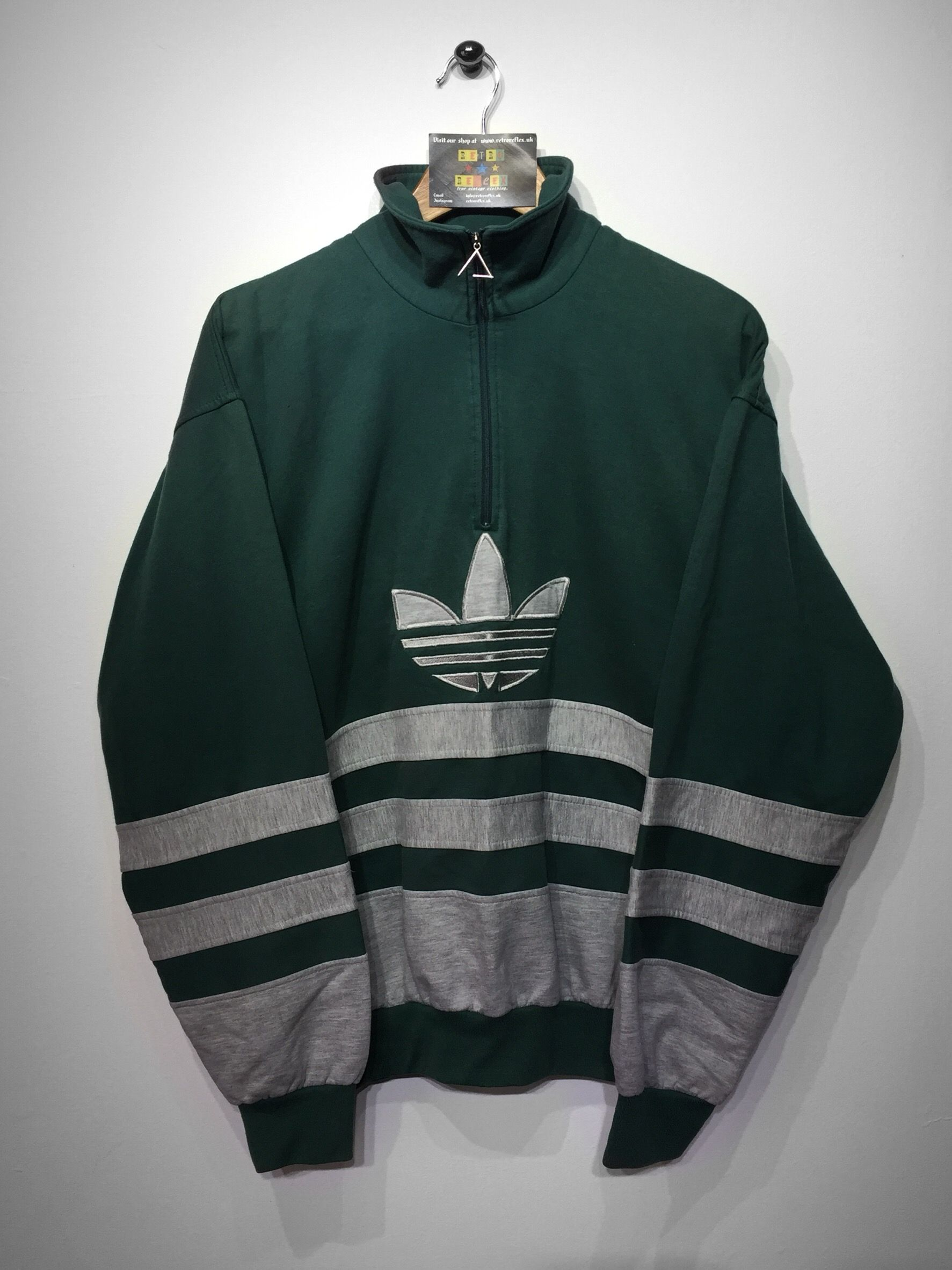 Adidas 14 zip sweatshirt size Medium (but Fits Oversized