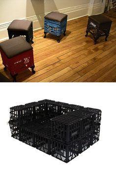 Muebles Con Cajas De Plastico Deco Maison Recyclage