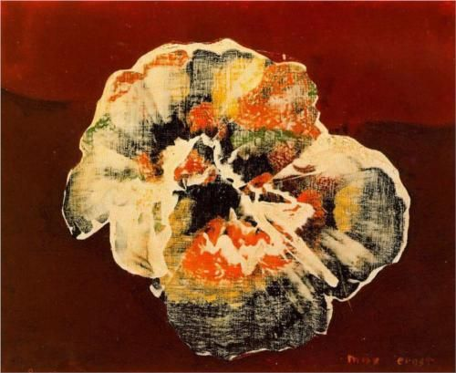 Flower Shell c. 1956, Max Ernst, Museo Thyssen, Madrid (Max Ernst (2 April 1891 – 1 April 1976) was a German painter, sculptor, graphic artist, and poet. A prolific artist, Ernst was a primary pioneer of the Dada movement and Surrealism.)