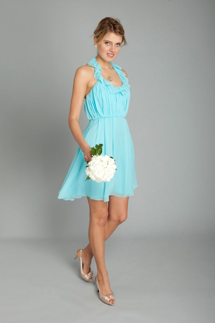 Flirty teal bridesmaid dress #teal #bridesmaids For The Maids | Big ...