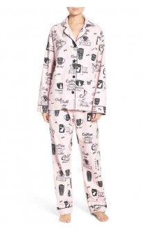 545ee5dc76 PJ Salvage Women s Pink Flannel Coffee Cup Pajama Set Size XS to XL ...