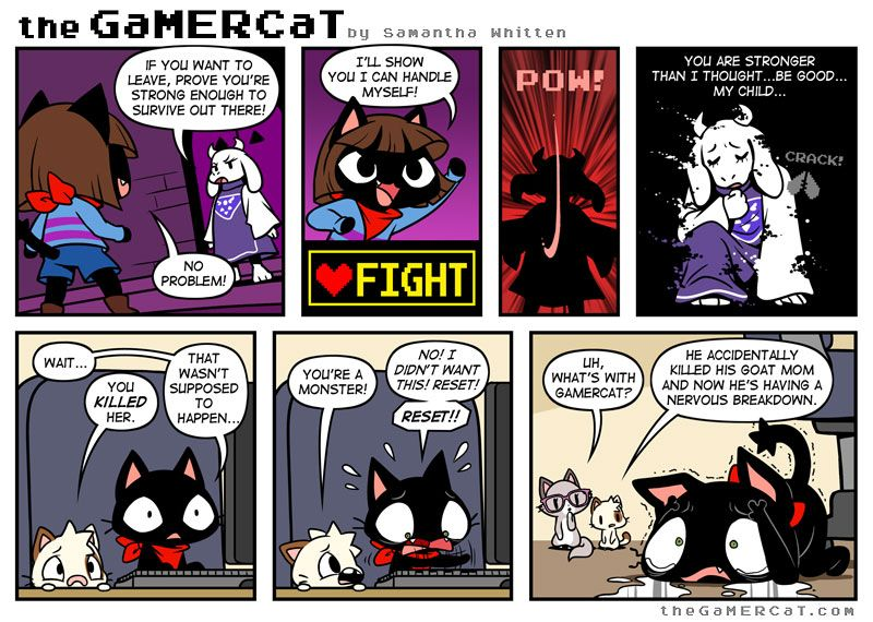 The GaMERCaT - Mother May I (How to feel like an absolute monster when playing Undertale: kill Goatmom)