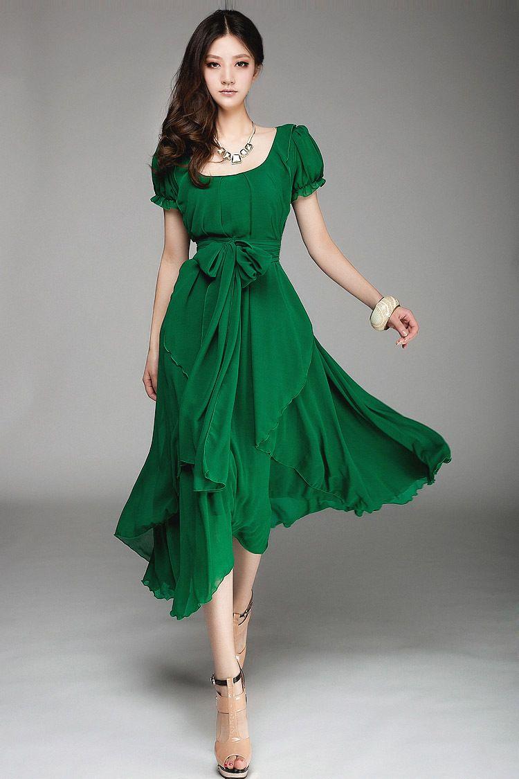 Платья женская весной 2014 летнее платье свободного покроя платье ну вечеринку длинное платье о образным вырезом с коротким рукавом размер m,L Xl, Xxl отличное качество купить на AliExpress