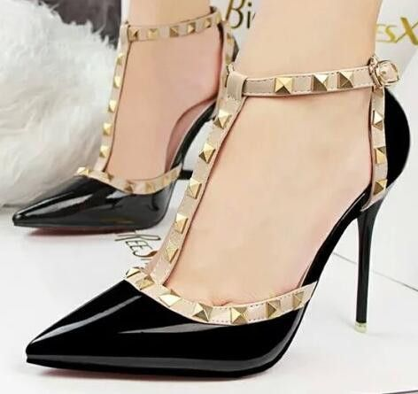 2014 new cheap price buy cheap sast Fashion Heel 14cm Open Toes High Heels Cleats Leather Women Sandals Buckle Strap Pumps Summer high Heel F403 XUwYL8