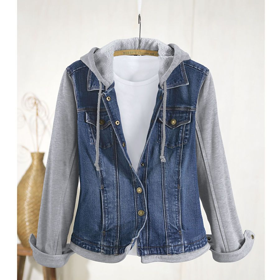 Fleece And Denim Jacket Denim Jacket Women Denim Jacket Denim Fashion [ 900 x 900 Pixel ]