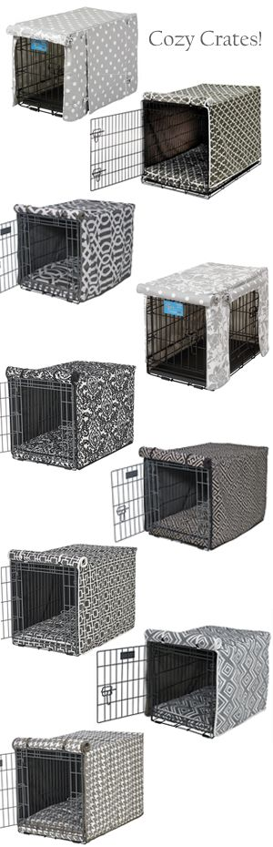 Decor-friendly dog crate covers and bed sets at FelixChien.com ...