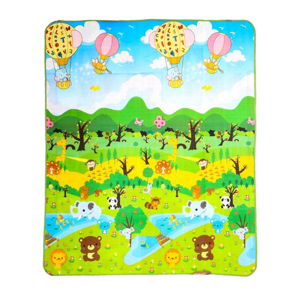 180*150 cm Play Mat Forest River Fumetto Stuoia Del Gioco Del Bambino Tapete Bebe Stuoia Strisciante Pavimento Morbido Game Pad Pad Moquette di Picnic