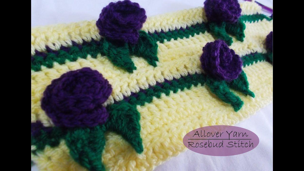 How to crochet Rosebud Stitch | szydelko video | Pinterest | Häkeln ...