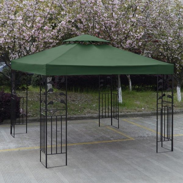 10 X 10 Gazebo Top Cover Patio Canopy Replacement Double Roof This Intelligently Designed Gazebo Replac Patio Canopy Gazebo Canopy Gazebo Replacement Canopy