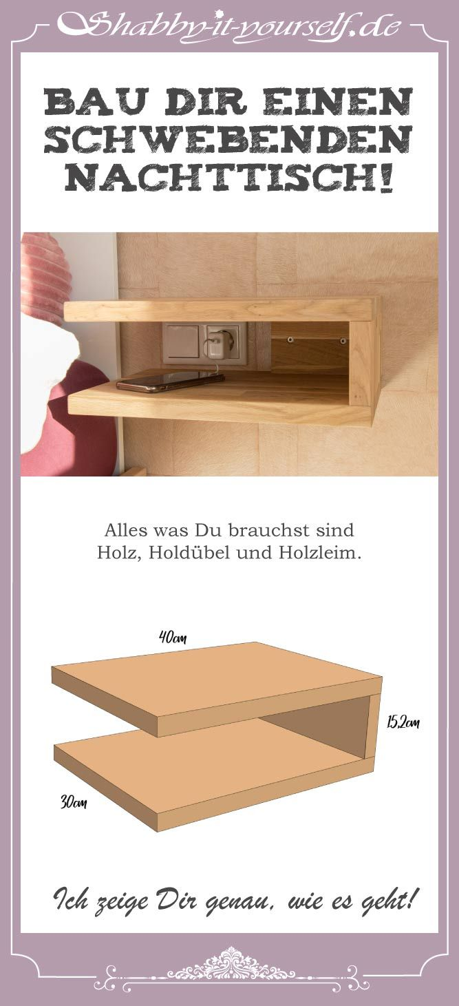 Photo of Build a floating bedside table – Here's how!