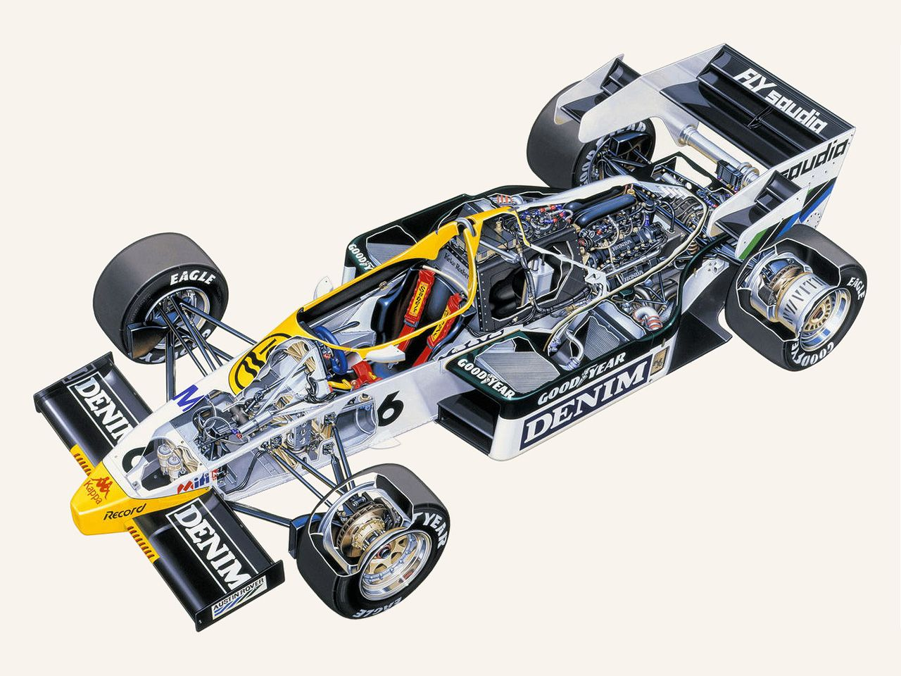 1983-1984 Williams FW09 - Illustration unatrributed