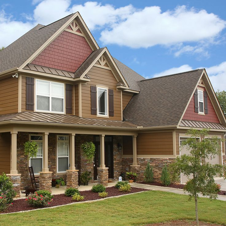 Best James Hardie Plank Lap Siding In Chestnut Brown And James 400 x 300