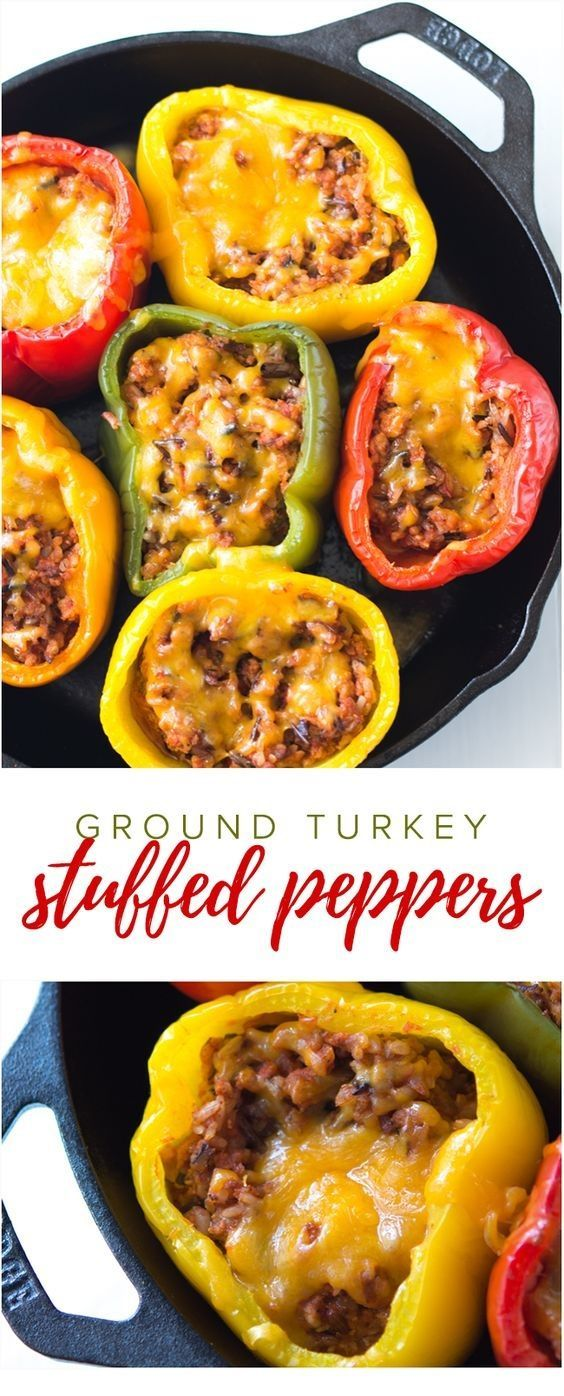 Ground Turkey Stuffed Peppers  MARY39S BLOG
