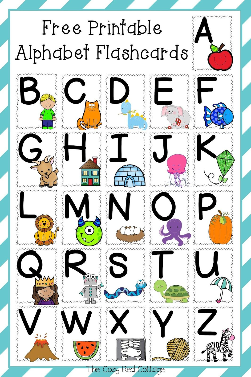 Free Printable Alphabet Flashcards With Images