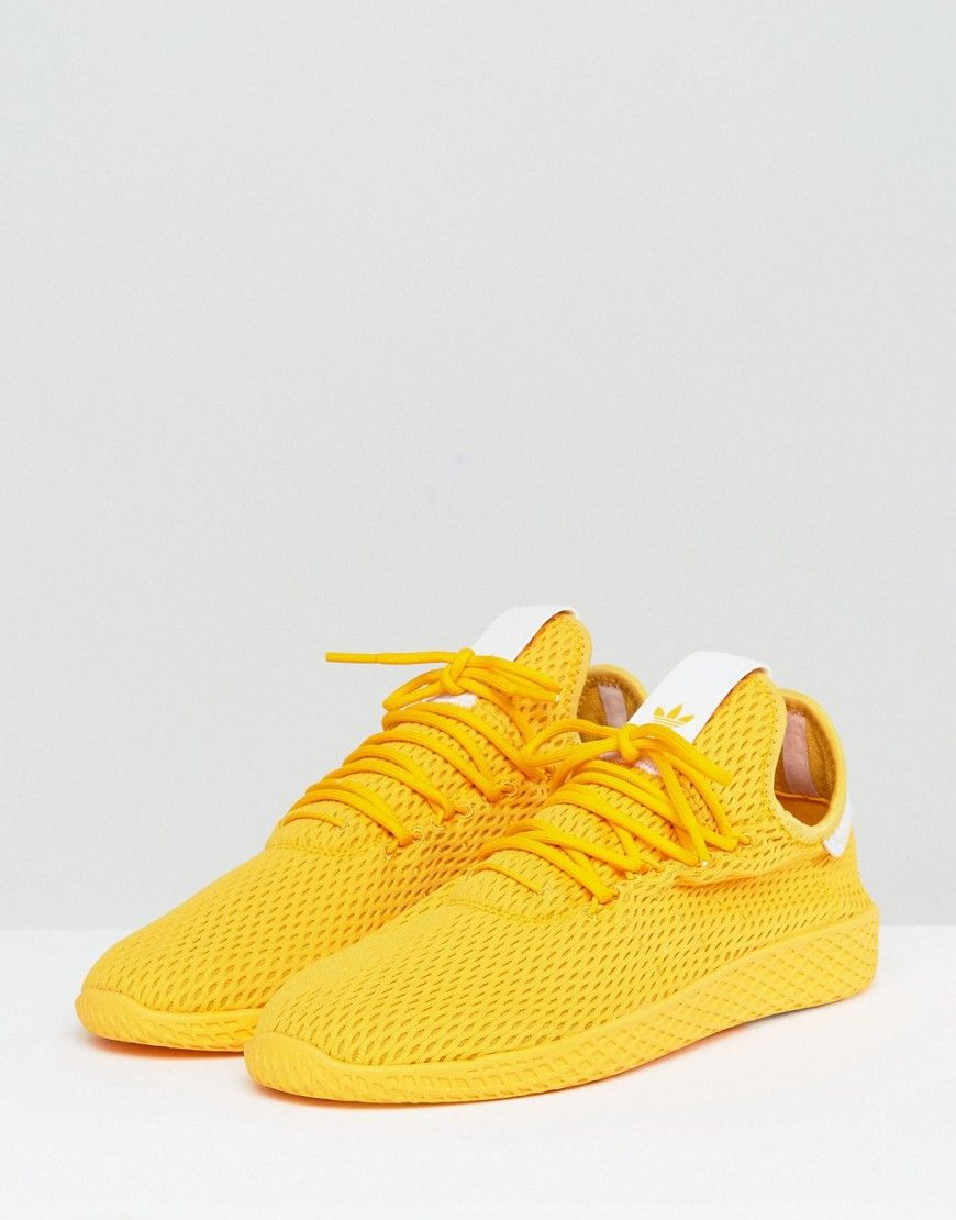 Adidas Originals X Pharrell Williams Tennis Hu Sneakers In Yellow Cp97 Sneakers Addidas Shoes Adidas Pharrell Williams