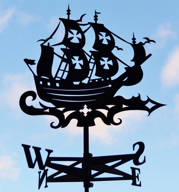 SWEN Products CLIPPER SHIP NAUTICAL Steel Weathervane