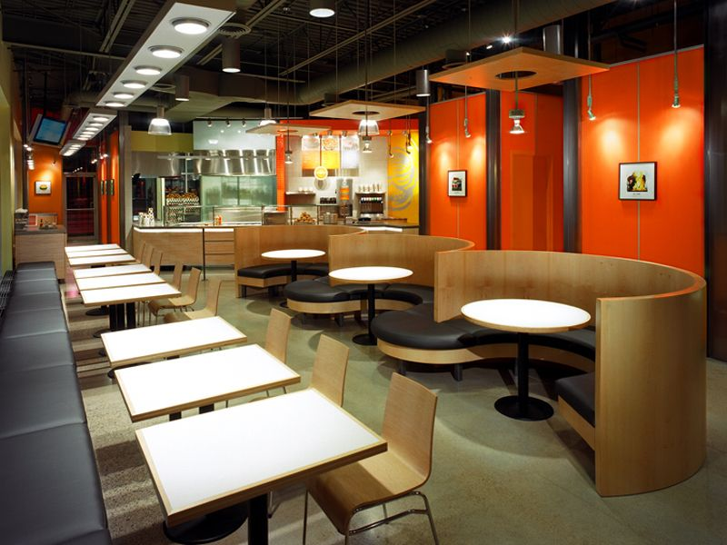 Restaurant interior design food courts fast food for Fast food decoration