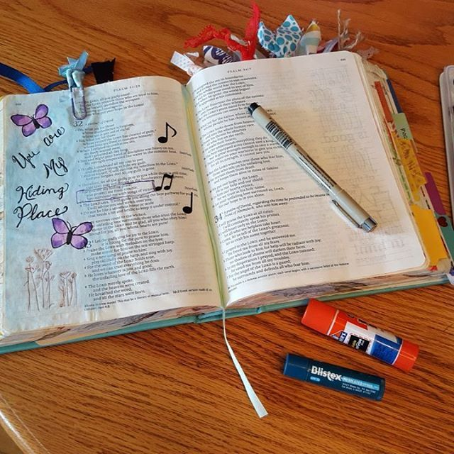 Here's a little public service announcement...don't put your chapstick and glue stick next to each other while #biblejournaling.  #thatcouldhavebeenbad