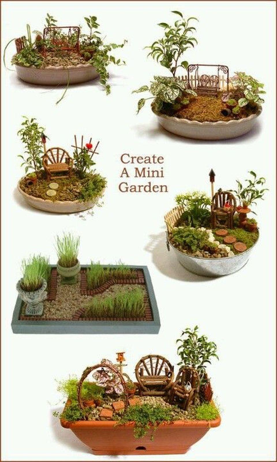 Amazing Diy Mini Fairy Garden Ideas For Miniature Landscaping Mini Garden Miniature Garden Miniature Fairy Gardens