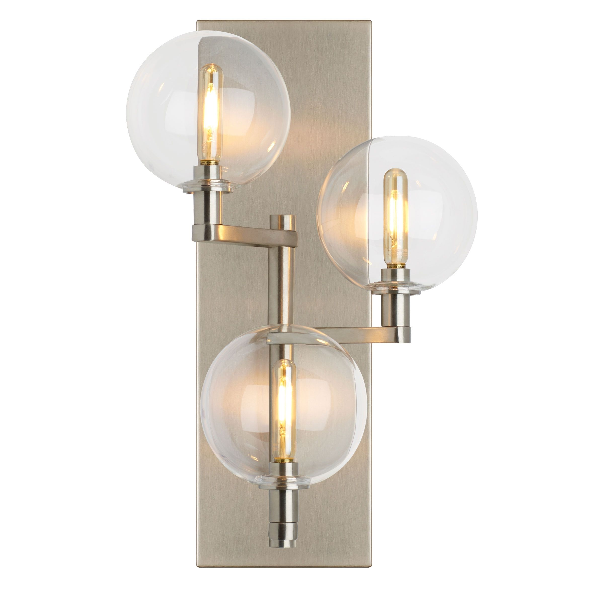 Gambit triple wall light tech lighting at lightology sconces the gambit led multiport chandelier family from tech lighting exudes undeniable beauty and warm contemporary style through its bold use of high end mixed arubaitofo Image collections