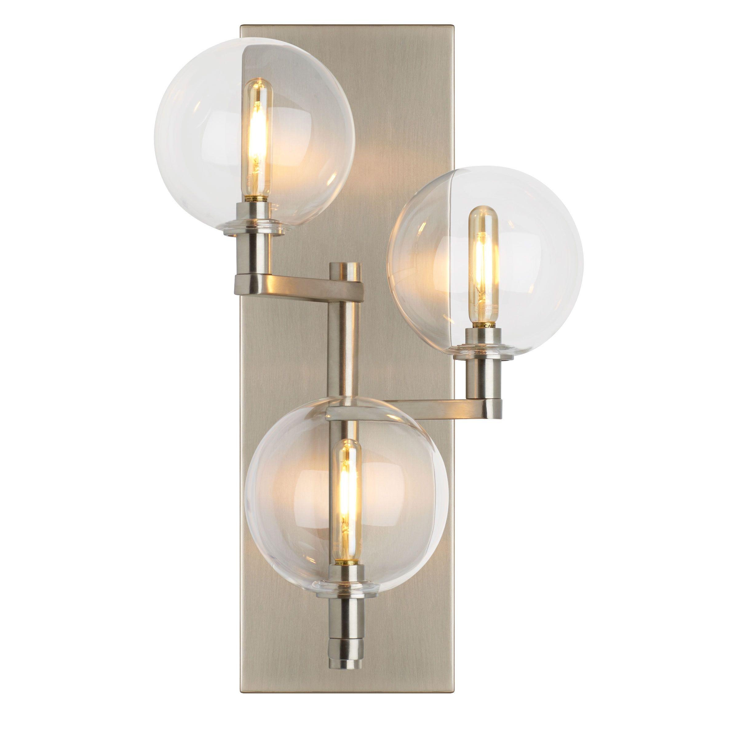 Bathroom Lighting Color Temperature gambit triple wall light | light tech, color temperature and