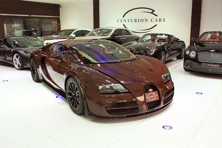 Bugatti veyron 164 super sport 1 out of 1 brown color