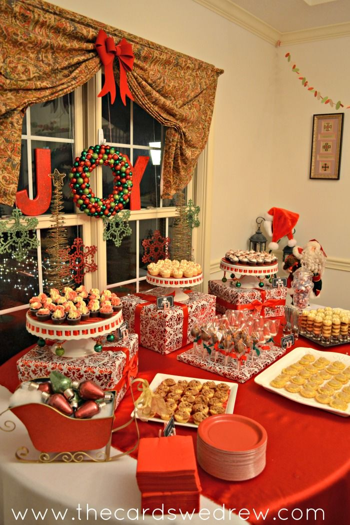 Christmas Party Table Decorations Ideas.Red And Green Christmas Party Christmas Entertaining