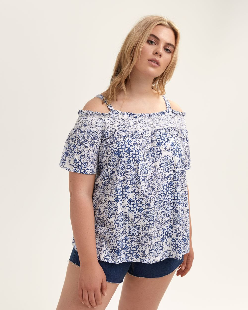 cf2dce5aaf0 Michel Studio Off-the-Shoulder Blouse with Ruffles