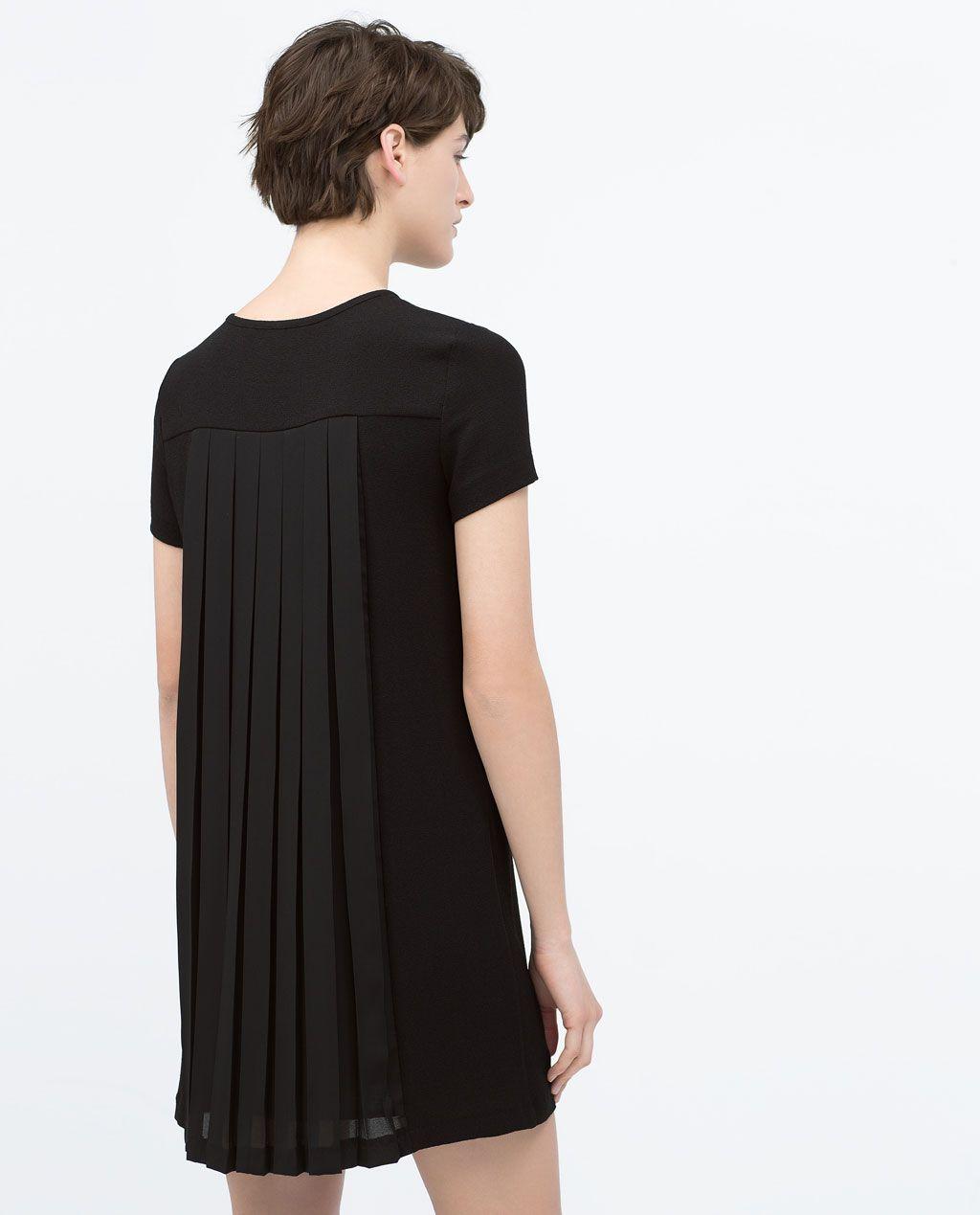 ZARA COLLECTION SS15 BACK PLEATED DRESS | Robe plissée