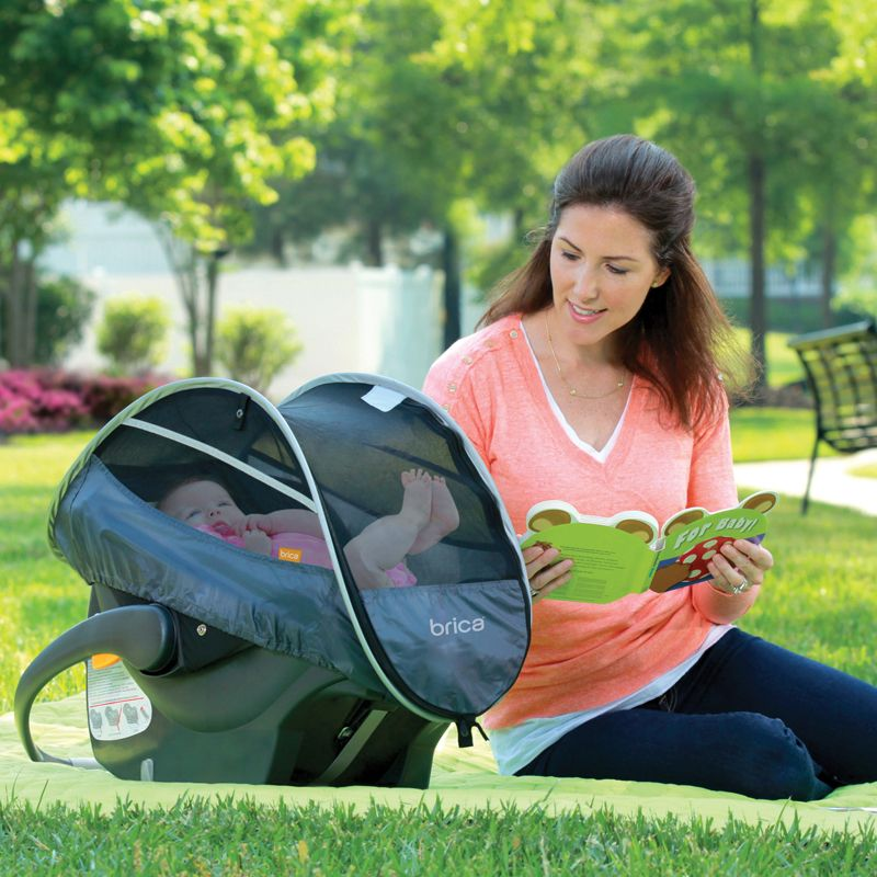 Make sure your infant is protected from the outside elements with our Infant Car Seat Comfort Canopy. The breathable mesh lets the fresh air in while keeping out bugs, wind, and germs.
