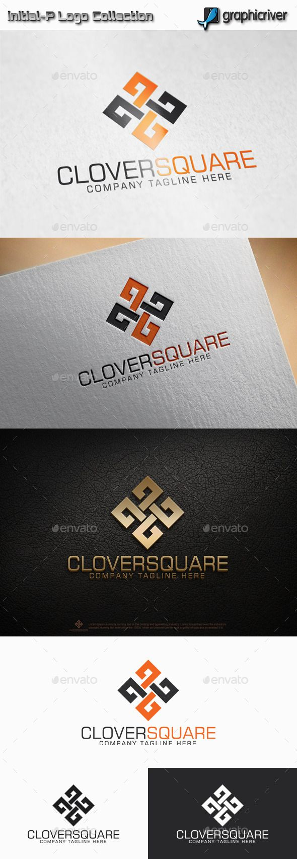 Clover Square Logo — Vector EPS #solutions #logo • Available here → https://graphicriver.net/item/clover-square-logo/11514651?ref=pxcr