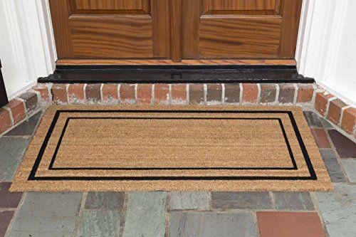 Outdoor Doormats Decoir 24 X 48 Classic Border Coir Double Door Mat Mediumlarge Click Image To Review More Detai Door Mat Large Door Mats Outdoor Door Mat