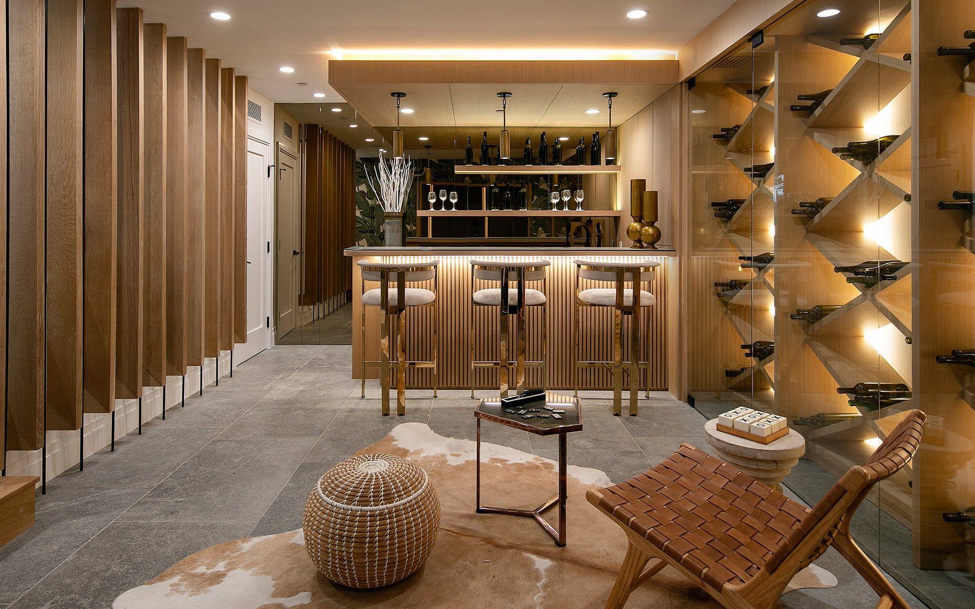 Wine Storage Incredible Modern Wine Cellar And Tasting Room In