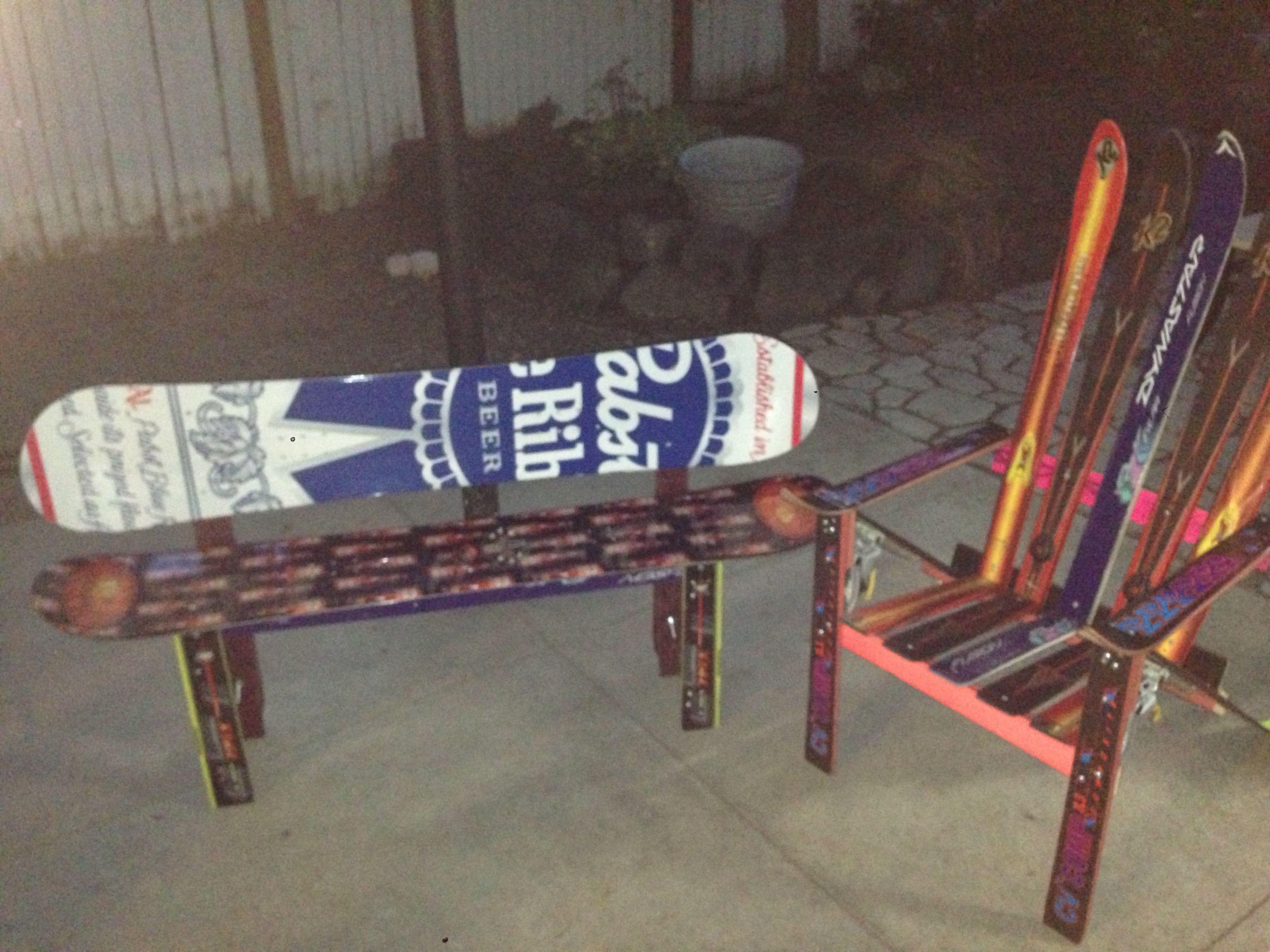 Snowboard bench   Bw   Pinterest   Bench