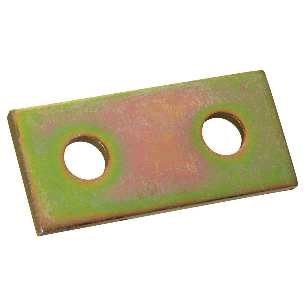 1/2 in. 2-Hole Flat Straight Bracket - Gold Galvanized (Case of 10)