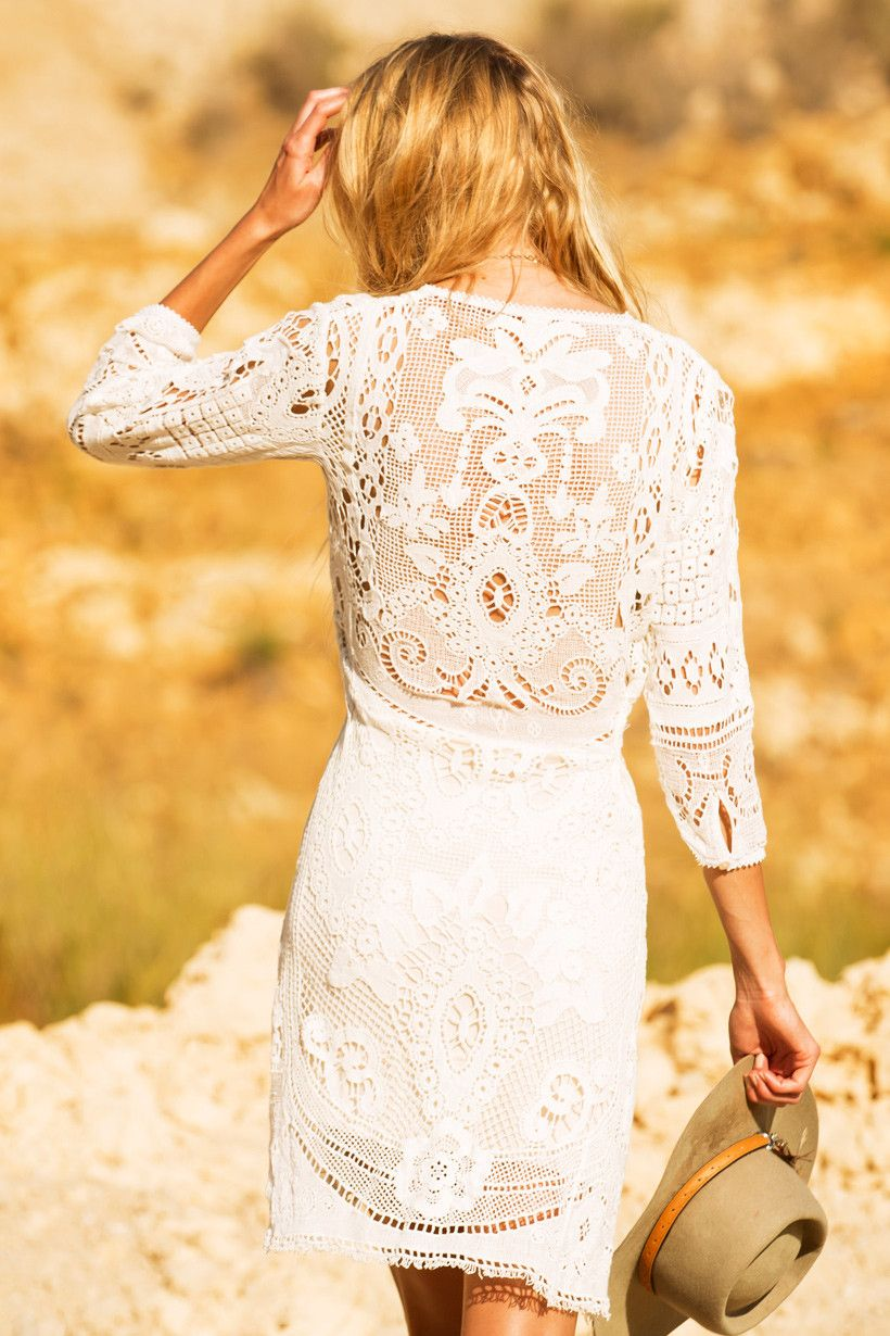 Woodstock Mini Dress - Off White • Spell & The Gypsy Collective