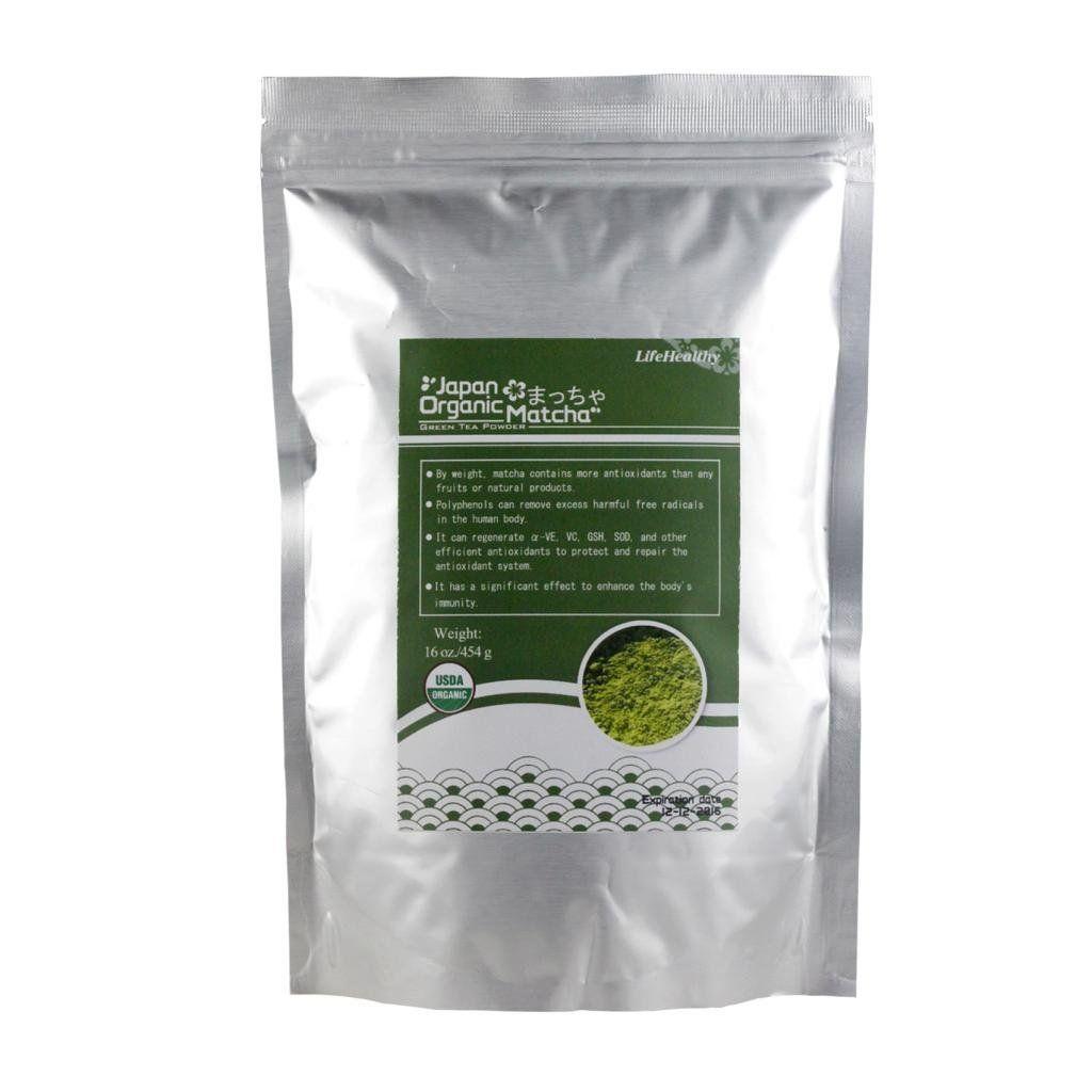 HealthyOrigin Organic Matcha Green Tea Powder Loose Tea 16