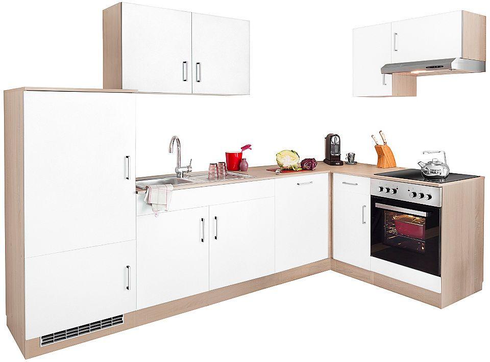 Winkelküche, Held Möbel, »Melbourne«, mit E-Geräten, Stellbreite - küchenzeile 160 cm