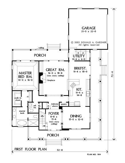 house plan the trotterville by donald a gardner