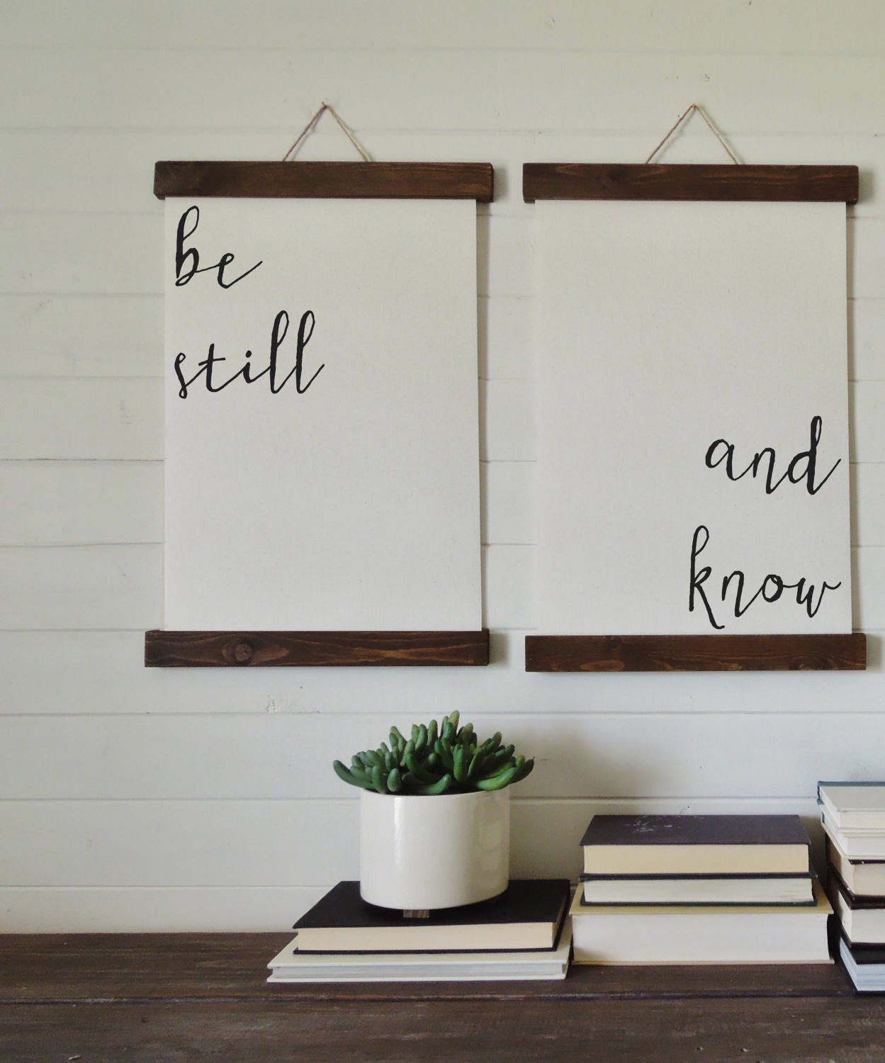 Be still and knowcalligraphy wall artcanvas art printwood sign