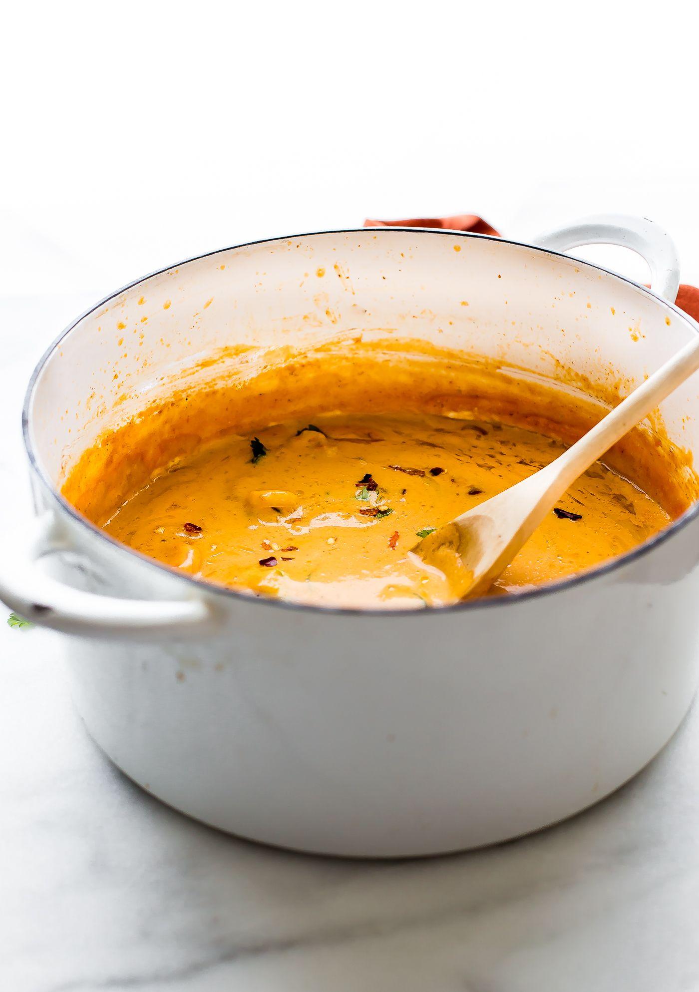 Healing Roasted Red Pepper Shrimp Bisque Video Recipe