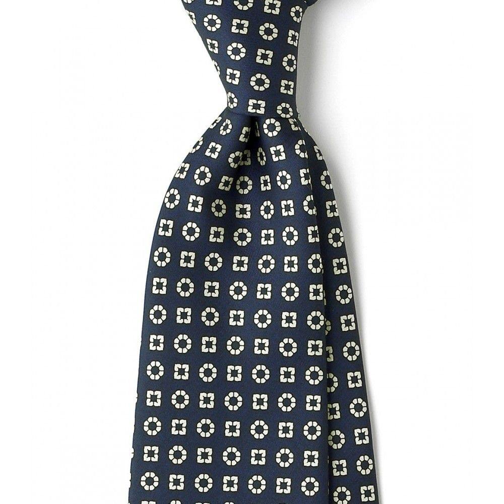 cdb71d2abf1c Self tip 22oz Printed Silk Foulard 8cm Tie - All - Ties - Drakes London